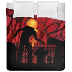 Horror Zombie Ghosts Creepy Duvet Cover Double Side (california King Size)