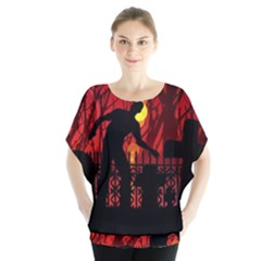 Horror Zombie Ghosts Creepy Blouse