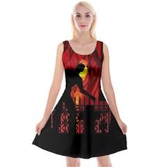 Horror Zombie Ghosts Creepy Reversible Velvet Sleeveless Dress
