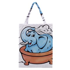 Elephant Bad Shower Classic Tote Bag