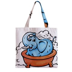 Elephant Bad Shower Zipper Grocery Tote Bag