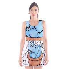 Elephant Bad Shower Scoop Neck Skater Dress