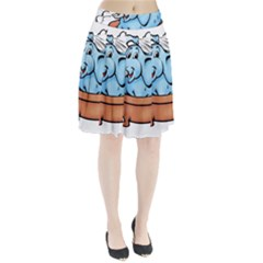Elephant Bad Shower Pleated Skirt