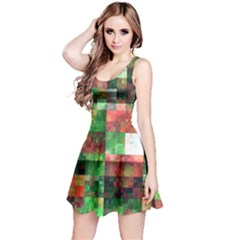 Paper Background Color Graphics Reversible Sleeveless Dress