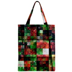 Paper Background Color Graphics Zipper Classic Tote Bag