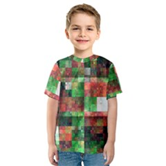 Paper Background Color Graphics Kids  Sport Mesh Tee