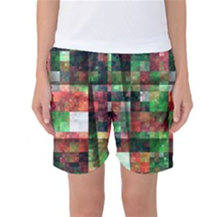 Paper Background Color Graphics Women s Basketball Shorts