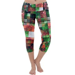 Paper Background Color Graphics Capri Yoga Leggings