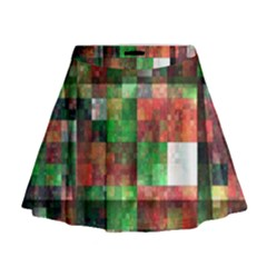 Paper Background Color Graphics Mini Flare Skirt