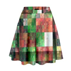 Paper Background Color Graphics High Waist Skirt