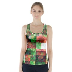 Paper Background Color Graphics Racer Back Sports Top