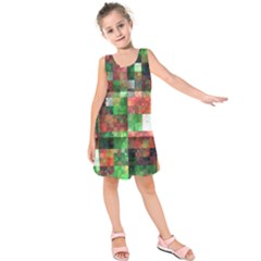 Paper Background Color Graphics Kids  Sleeveless Dress
