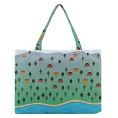Rural Scenery Medium Zipper Tote Bag