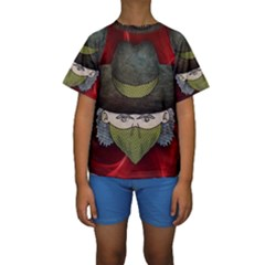 Illustration Drawing Vector Color Kids  Short Sleeve Swimwear
