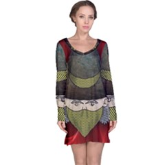 Illustration Drawing Vector Color Long Sleeve Nightdress