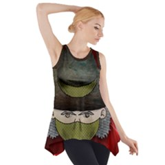 Illustration Drawing Vector Color Side Drop Tank Tunic