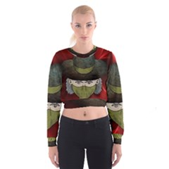 Illustration Drawing Vector Color Women s Cropped Sweatshirt