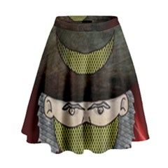 Illustration Drawing Vector Color High Waist Skirt