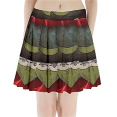 Illustration Drawing Vector Color Pleated Mini Skirt