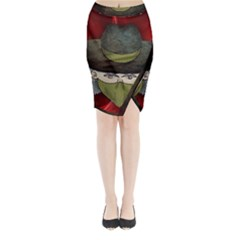 Illustration Drawing Vector Color Midi Wrap Pencil Skirt