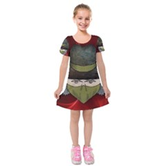 Illustration Drawing Vector Color Kids  Short Sleeve Velvet Dress
