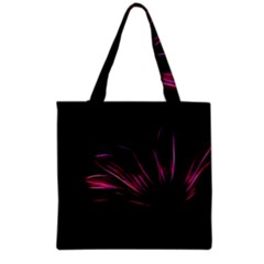 Purple Flower Pattern Design Abstract Background Grocery Tote Bag