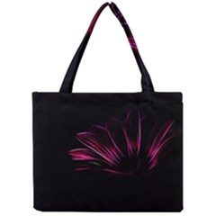 Purple Flower Pattern Design Abstract Background Mini Tote Bag