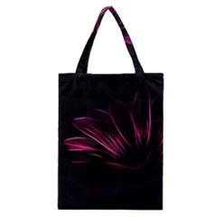 Purple Flower Pattern Design Abstract Background Classic Tote Bag