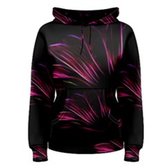 Purple Flower Pattern Design Abstract Background Women s Pullover Hoodie