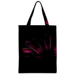 Purple Flower Pattern Design Abstract Background Zipper Classic Tote Bag