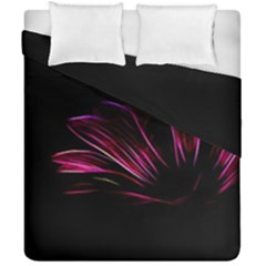 Purple Flower Pattern Design Abstract Background Duvet Cover Double Side (california King Size)