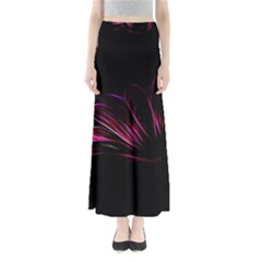 Purple Flower Pattern Design Abstract Background Maxi Skirts