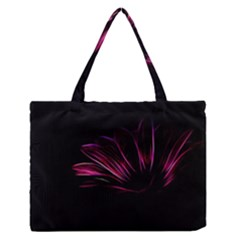 Purple Flower Pattern Design Abstract Background Medium Zipper Tote Bag