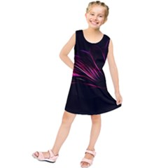 Purple Flower Pattern Design Abstract Background Kids  Tunic Dress
