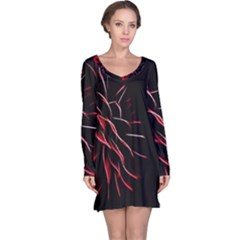 Pattern Design Abstract Background Long Sleeve Nightdress