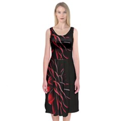 Pattern Design Abstract Background Midi Sleeveless Dress