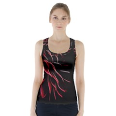 Pattern Design Abstract Background Racer Back Sports Top