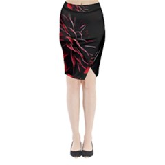 Pattern Design Abstract Background Midi Wrap Pencil Skirt