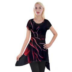 Pattern Design Abstract Background Short Sleeve Side Drop Tunic