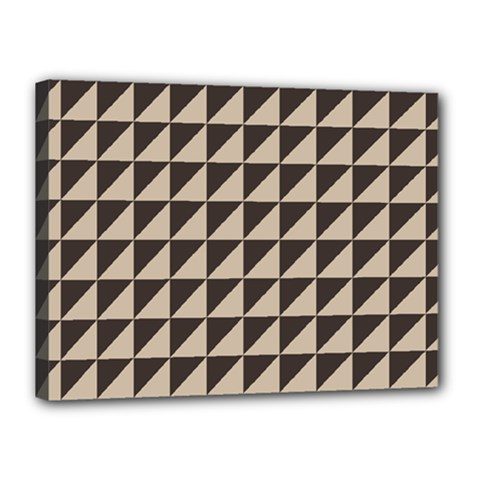 Brown Triangles Background Pattern  Canvas 16  X 12