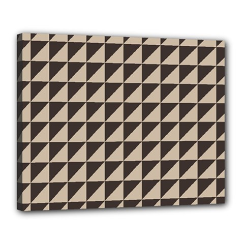 Brown Triangles Background Pattern  Canvas 20  X 16