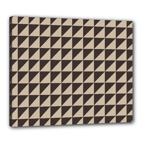 Brown Triangles Background Pattern  Canvas 24  X 20