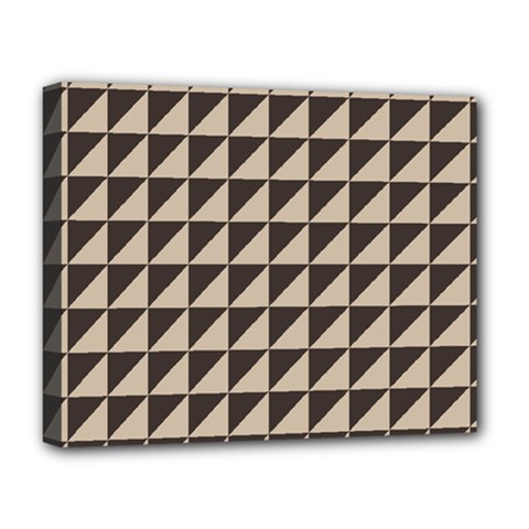 Brown Triangles Background Pattern  Deluxe Canvas 20  X 16