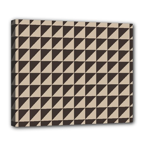 Brown Triangles Background Pattern  Deluxe Canvas 24  X 20