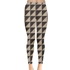 Brown Triangles Background Pattern  Leggings