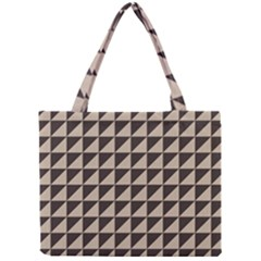 Brown Triangles Background Pattern  Mini Tote Bag