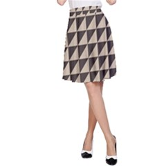 Brown Triangles Background Pattern  A Line Skirt