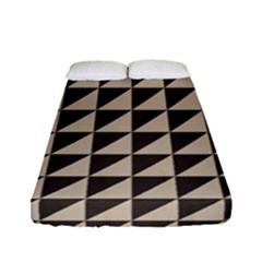 Brown Triangles Background Pattern  Fitted Sheet (full/ Double Size)
