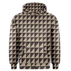 Brown Triangles Background Pattern  Men s Zipper Hoodie