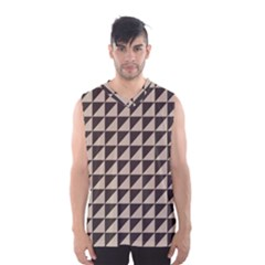Brown Triangles Background Pattern  Men s Basketball Tank Top